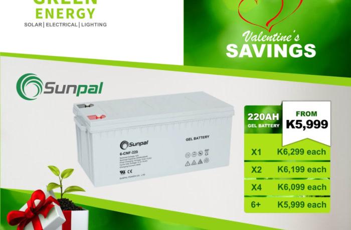 Sunpal 220 AH Gel battery on special offer image