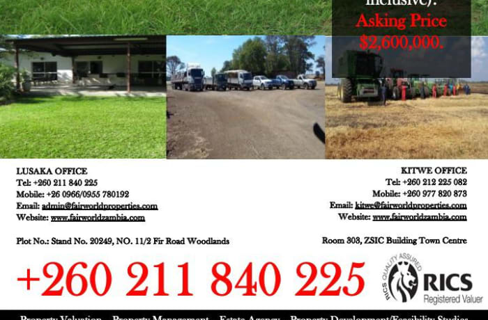 Farm for Sale in Kabwe image
