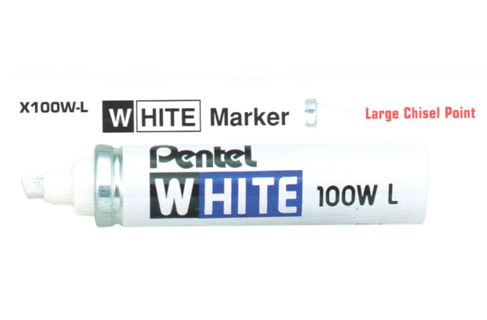 White Markers - X100W-L White Marker Large Chisel Point