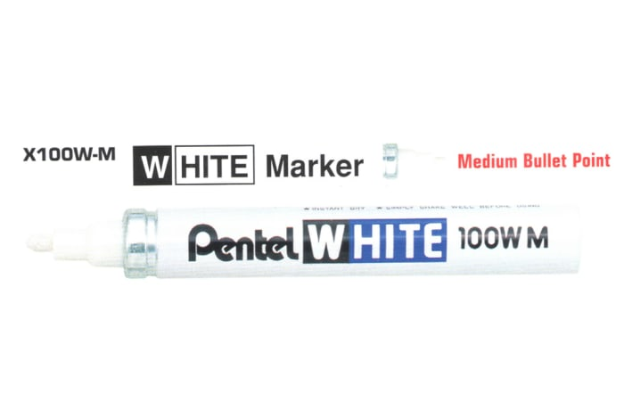 White Markers - X100W-M White Marker Medium Bullet Point