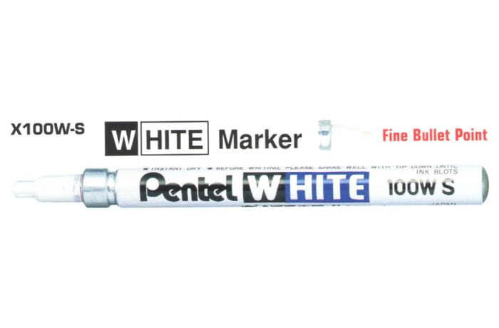 White Markers - X100W-S White Marker Fine Bullet Point