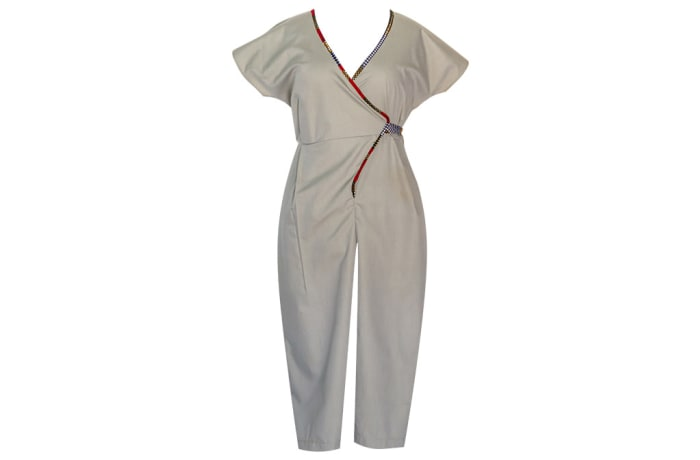 Womens Jumpsuit with Chitenge Accents