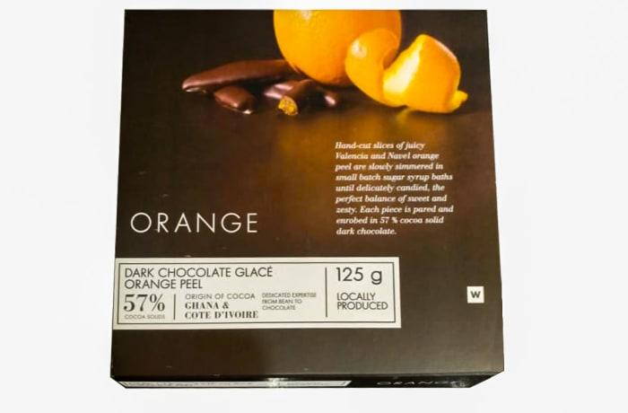 Woolworths Dark Chocolate Glace Orange Peel