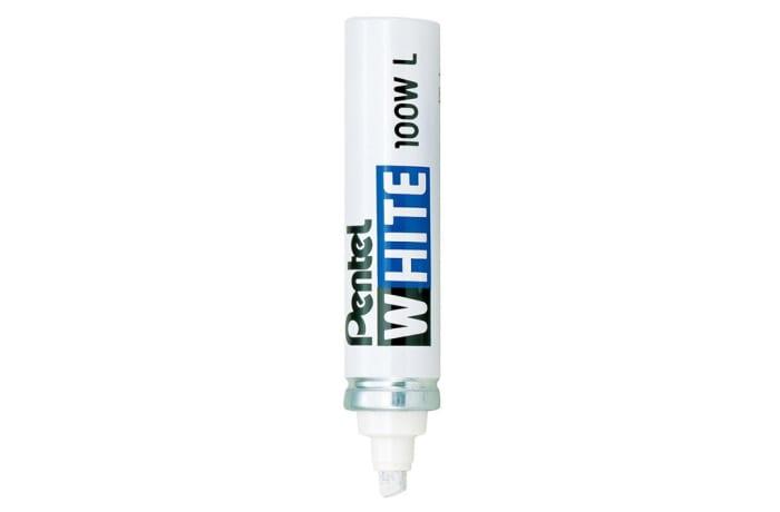 X100W-L White Marker Large Chisel Point