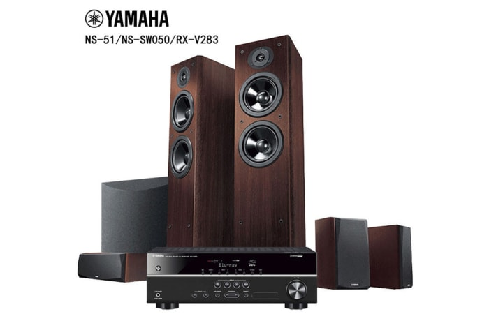 Yamaha  5.1 Home Theater System DTS Speaker - RX-V283/NS-F51/NS-P51/NS-SW050