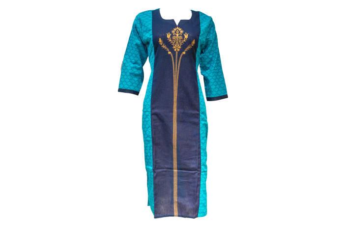 Kurti Pisha blue