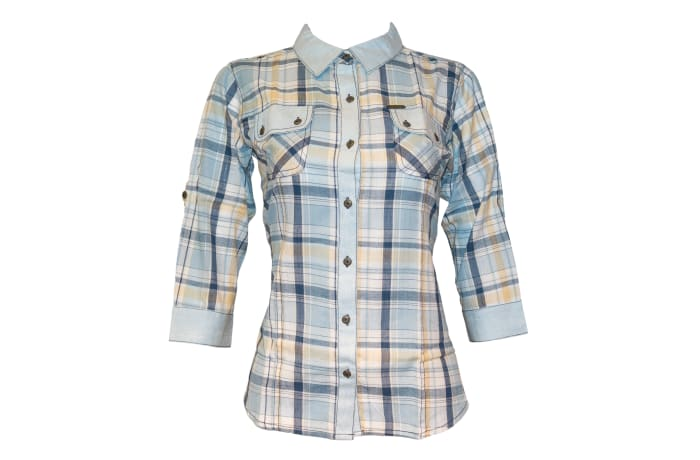 Kurti Casual Top blue and yellow checked K450