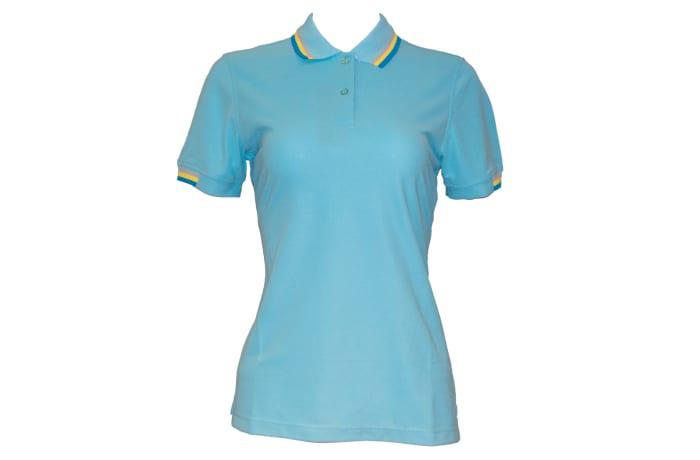 Poligan polo top light blue