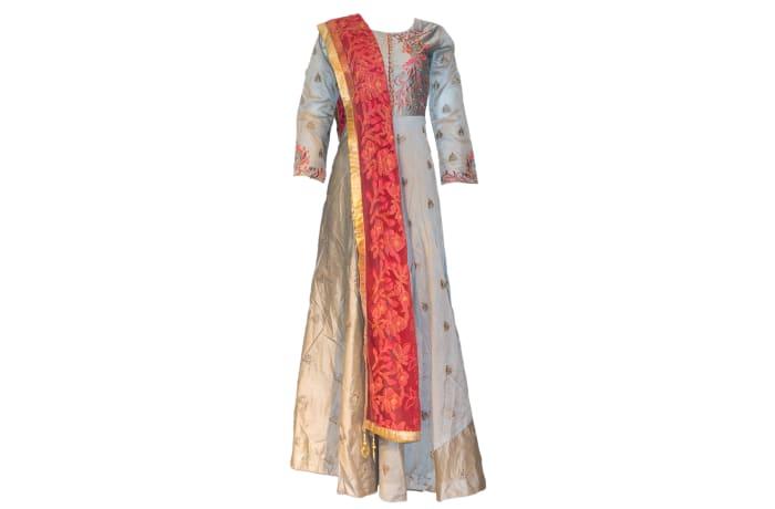 Punjabi Dress grey