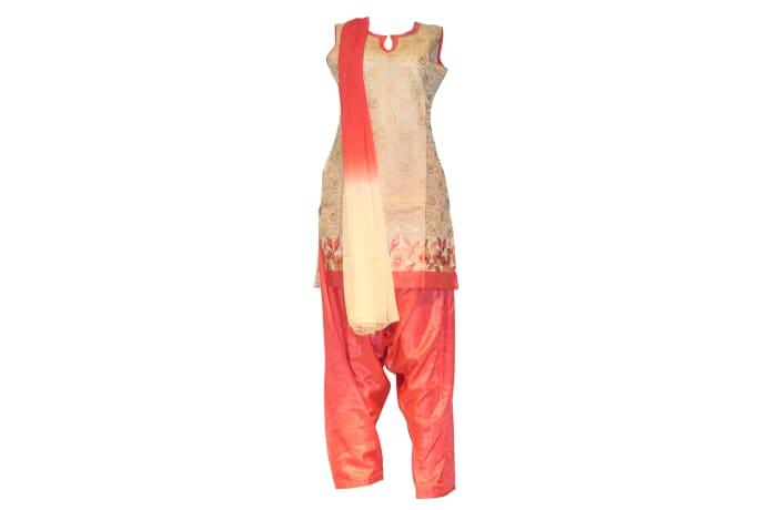 Yashika - Punjabi suit gold and peach