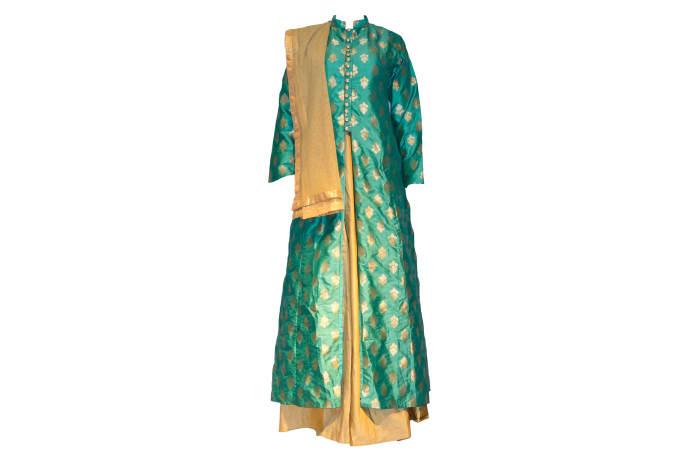 Punjabi Dress Suit green and gold