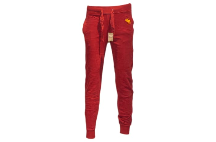Abercrombie & Fitch Sweat Pants red