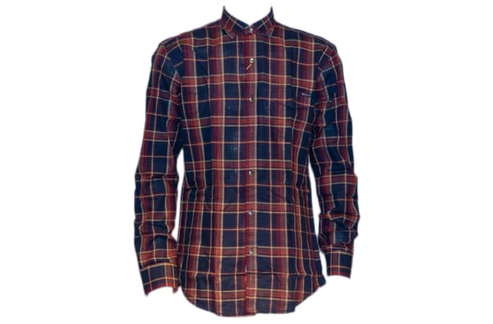 Casual Shirt Blue Red Checked