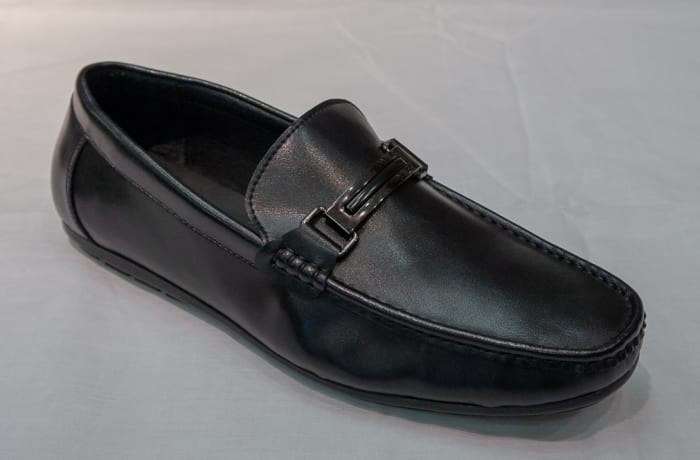 Casual Shoe Moccasins - Men's black with buckle