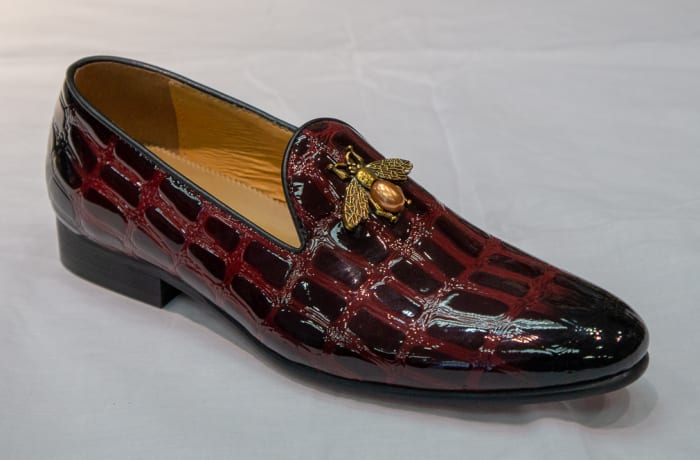Glass Shoe Nobby Cavalli -Men's maroon croc pattern