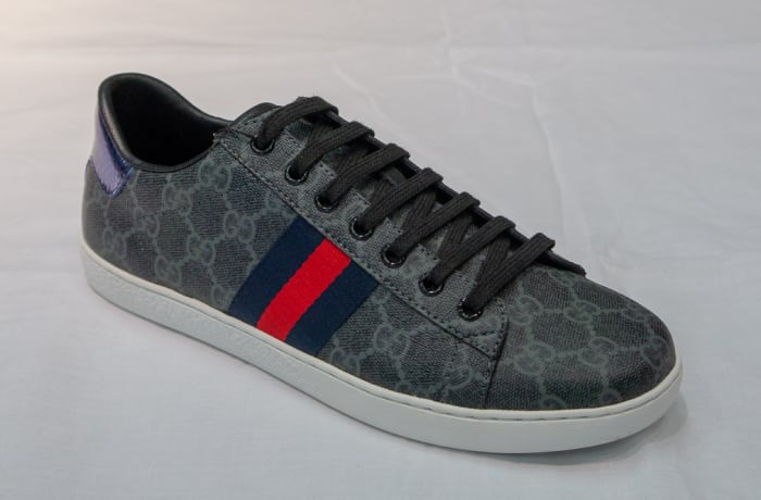 Gucci Canvas Sneakers - Women's grey