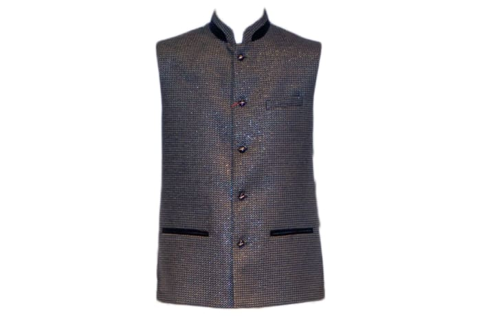 Modi Waist Coat Shiny Blue