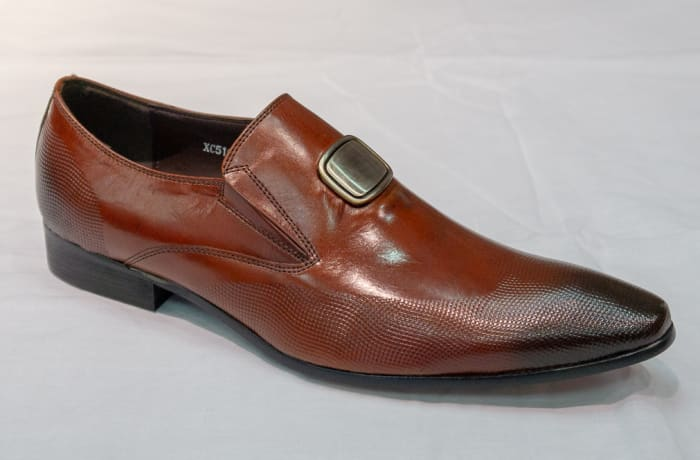 Smart Shoe Nobby Cavalli - Men's brown no lace with buckle