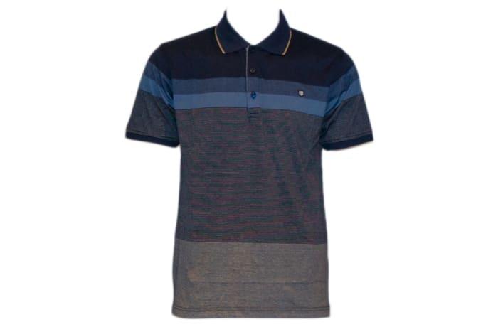 Tony Montana Polo Shirt grey with blue
