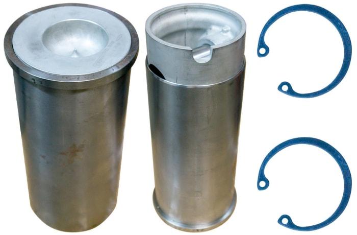 Yenmak Cylinder Liner DAF 752F, 825 DH, 825 DU, DHB 107.0mm, top, bottom, rings