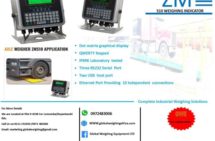 Axle Weigher ZM510 Application image