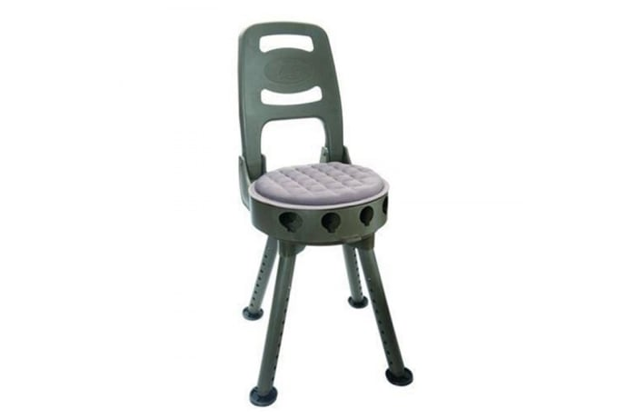 Quake Stag Swivel Hunting Stool With Back Rest