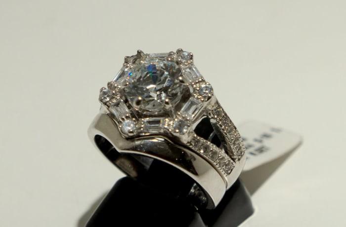 Wedding Set Silver Ring