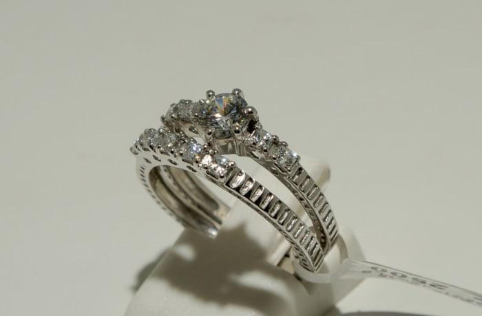 Classic Wedding Set Silver Ring