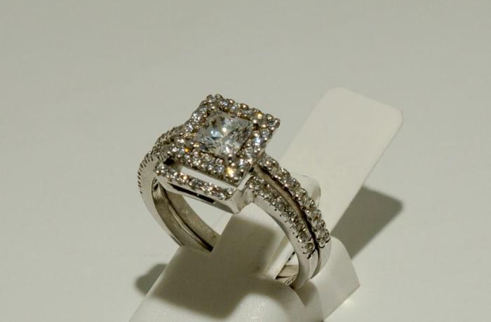 Double Silver Ring Zirconia