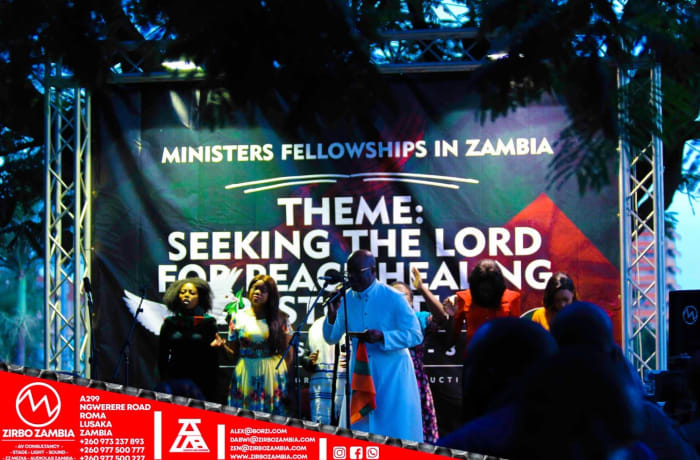Sound system installation for churches in Zambia image