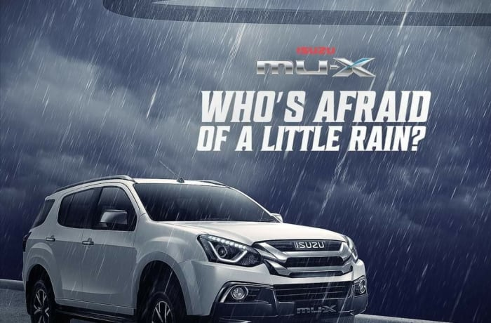 Rain or shine, the All-New ISUZU mu-X SUV won't let you down!  image