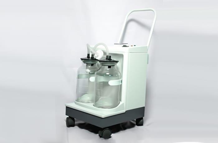 Suction machine double bottled