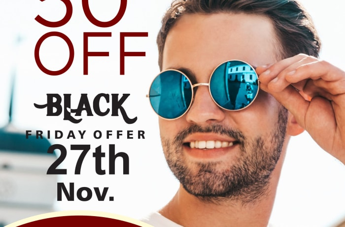 Special offer on sunglasses get upto 50% off image