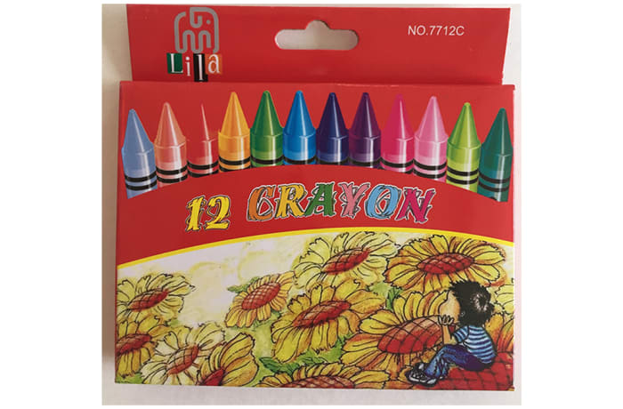 12 Crayons for Colouring - Medium