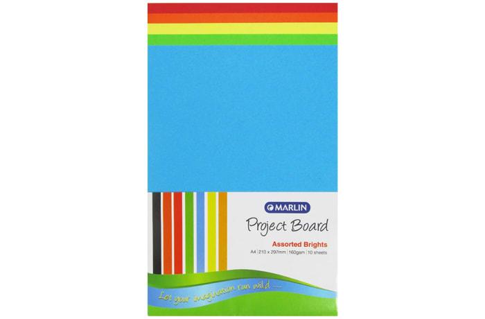 A4 Manilla Sheets Bright colour 160grams 10pkt