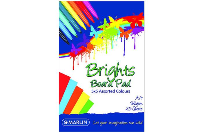 A4 Colour Pads 25 sheets 160gms
