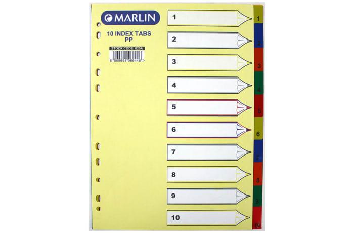 File Dividers 1-10 PVC