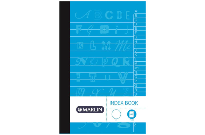 Index Book A4 192 Pg A-Z