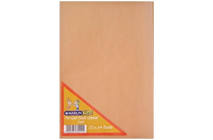 PRE-CUT BOOK COVER BROWN 10PKT