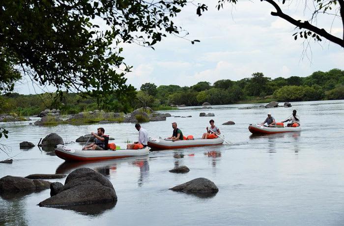 Canoeing and fishing image