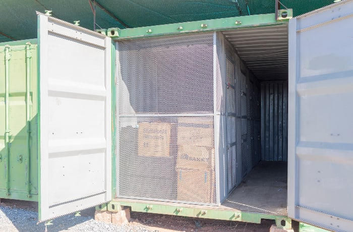 Secure self storage on a short or long term basis with over 112 containers available image