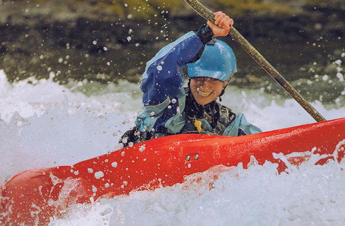 Kayaking the Zambezi rapids