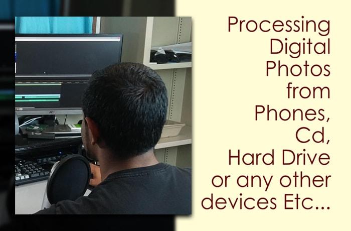 Professional photo processing image