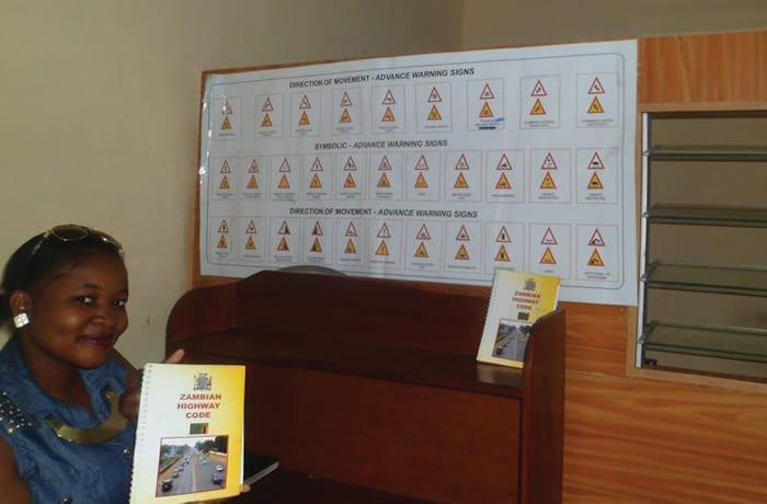 Driving test programme of truck driving lessons