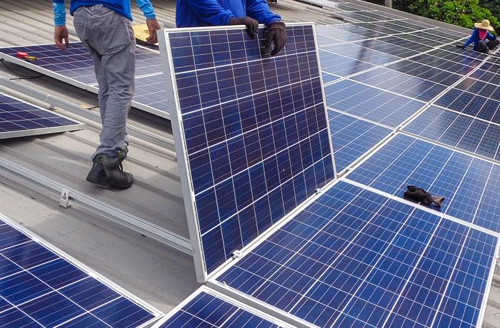 Solar system installation image