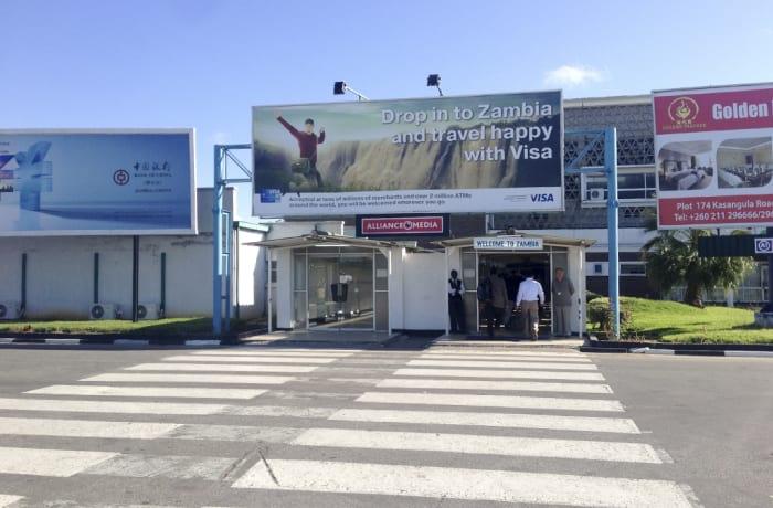Airport advertising image
