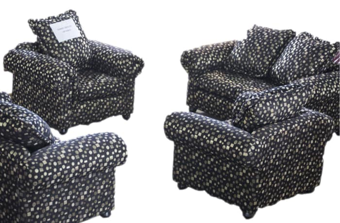 Chanel Sofas - 1 x single seater, 1 x double seater and 1 x triple seater