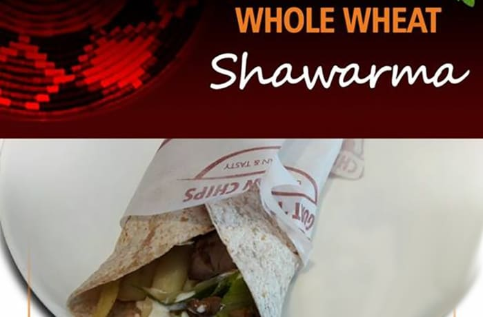 Whole wheat goat shawarma