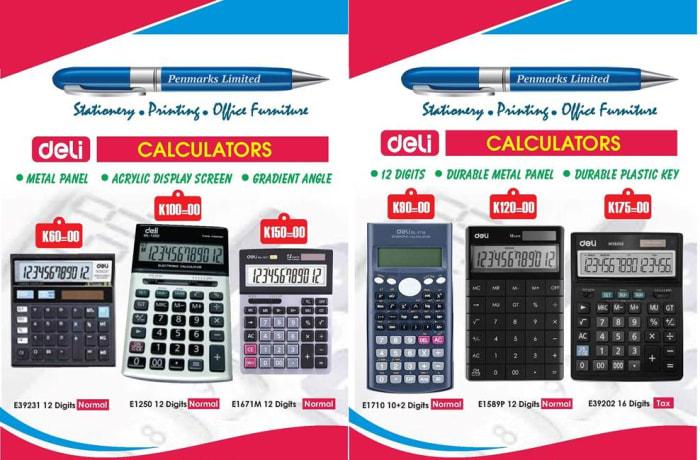 Quality calculators in stock image