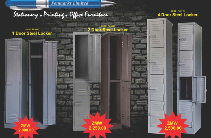Steel lockers on special offer  image